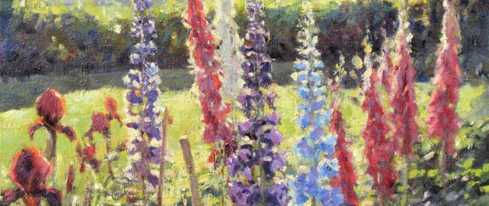 Foxgloves And Delphiniumsx