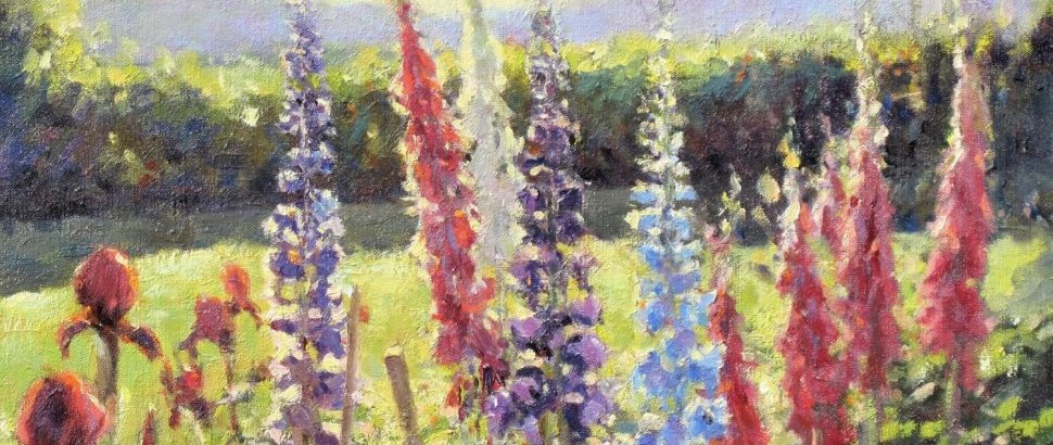 4 Foxgloves And Delphiniums2