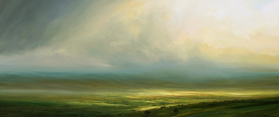 Haryy Brioche SUNSHINE AND SHOWERS 24X36
